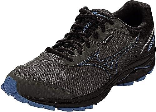 Mizuno Wave Rider GTX Neutralschuh Damen-Schwarz, Dunkelgrau, Zapatillas de Running Calzado Neutro para Mujer: Amazon.es: Zapatos y complementos