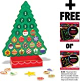 Magnetic Countdown to Christmas Wooden Advent Calendar + FREE Melissa & Doug Scratch Art Mini-Pad Bundle (35712)
