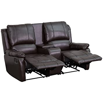 Amazon.com: piel pillowtop Home Theater Sillón Reclinable de ...