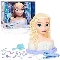 Disney's Frozen 2 Deluxe Elsa the Snow Queen Styling Head, 18 Piece