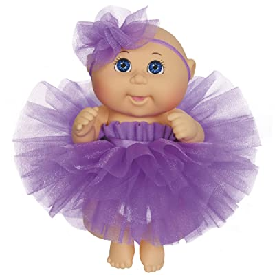 "Cabbage Patch Kids 9"" Dance Time Girl, Blue Eyes, Purple Tutu: Toys & Games"