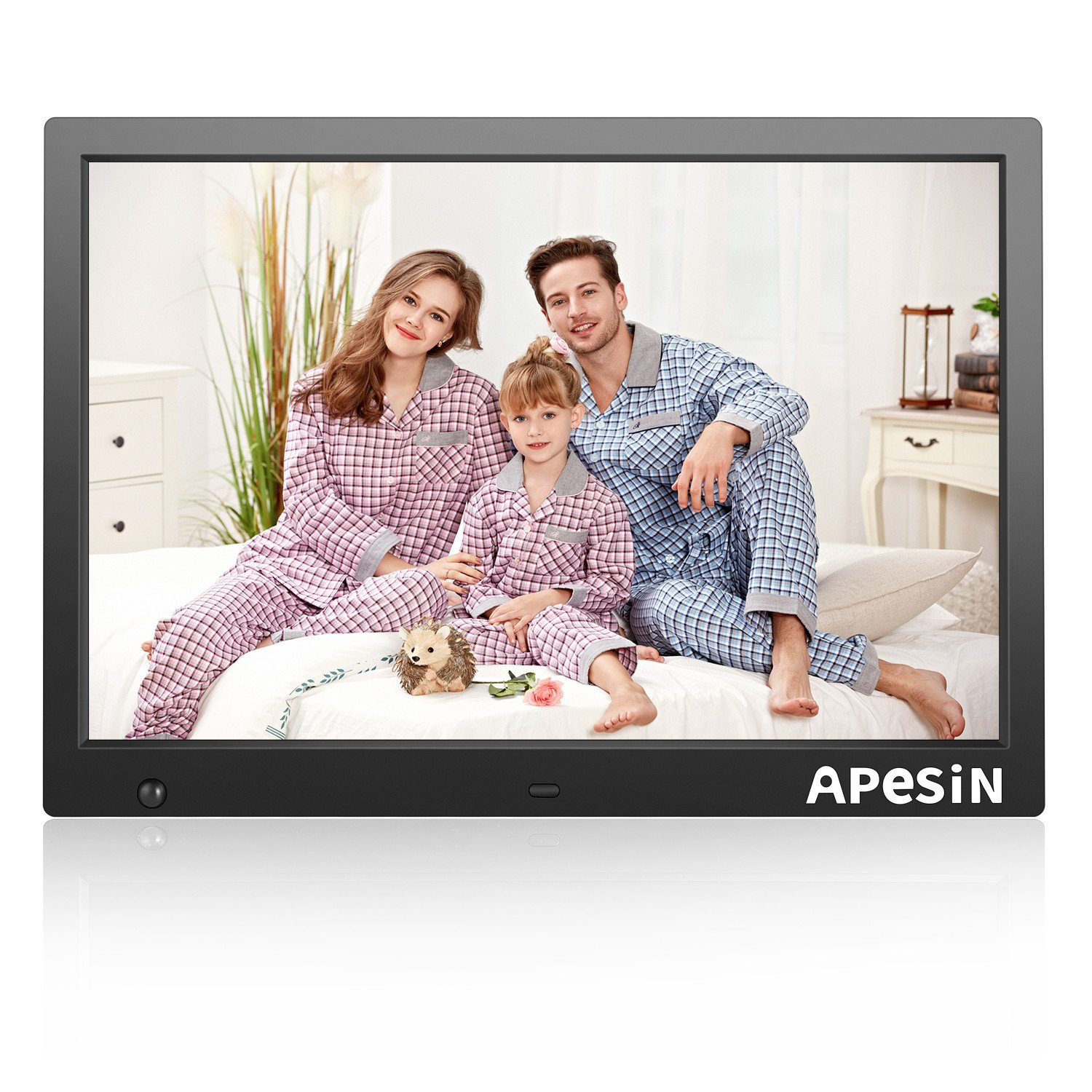 Digital Picture Frame, APESIN 14.1 Inch HD Screen with Motion Sensor(Black) by APESIN
