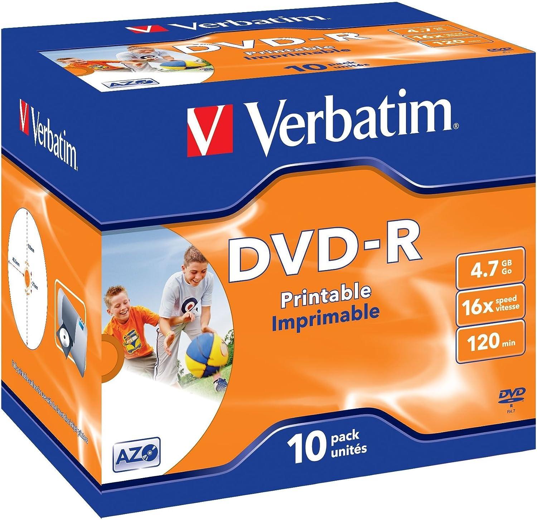Verbatim Dvd R Wide Inkjet Printable 4 7gb I 10er Pack Computer Zubehör