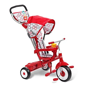 Amazon Com Radio Flyer Ultimate 4 In 1 Stroll N Trike Ride On Red