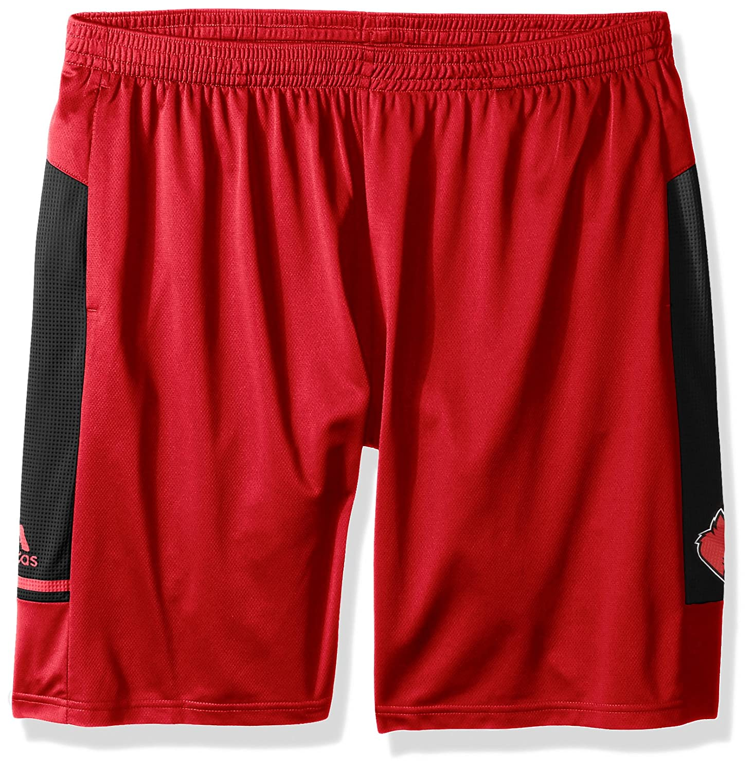 adidas Louisville Cardinals NCAA Mens Climalite 2017 Sideline Player Red Shorts