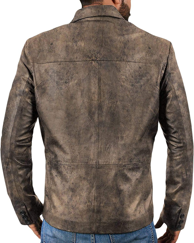 Lasumisura Mens Black Genuine Lambskin Leather Jacket 1510837