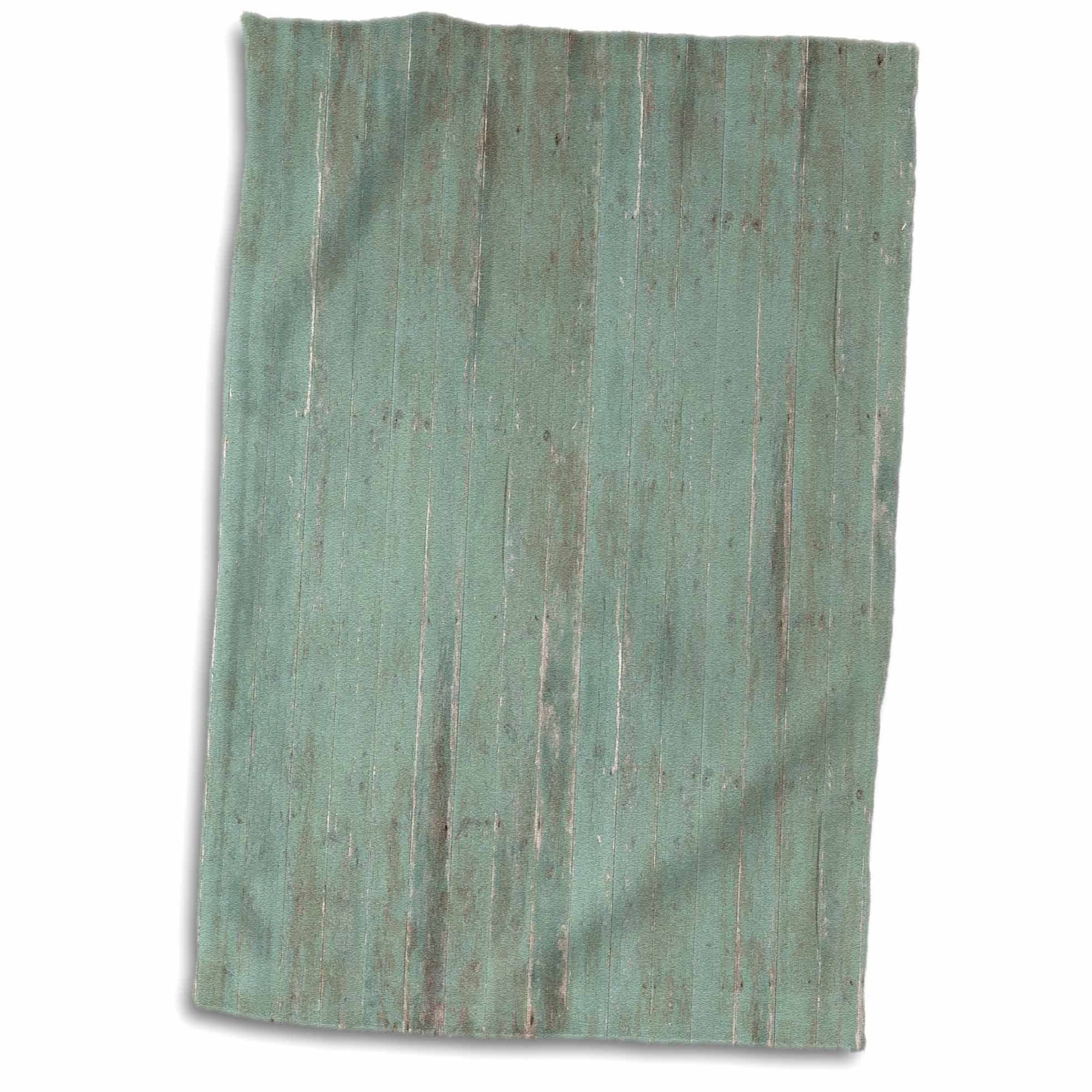 3D Rose Rustic Green Wood Look TWL_183265_1 Towel, 15'' x 22''