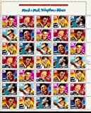 Rock & Roll Rhythm & Blues Full Sheet of 35 x 29 cent US Postage Stamp #2724-30