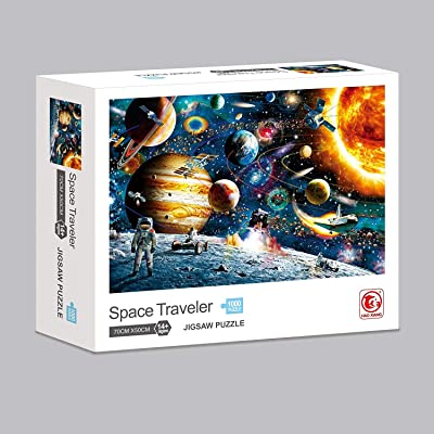 3T6B Space Puzzle 1000 Piece Jigsaw Puzzle Kids Adult Game - Planets in Space and Astronaut Jigsaw Puzzle Suitable for The Exercise of Kidss Thinking Parent-Child Interaction: Toys & Games