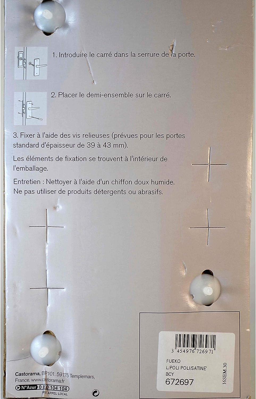 ENSEMBLE POIGN/ÉES DE PORTE LAITON POLI DOR/É SATIN/É CYLINDRE COLOURS FUEKO DESIGN MODERN