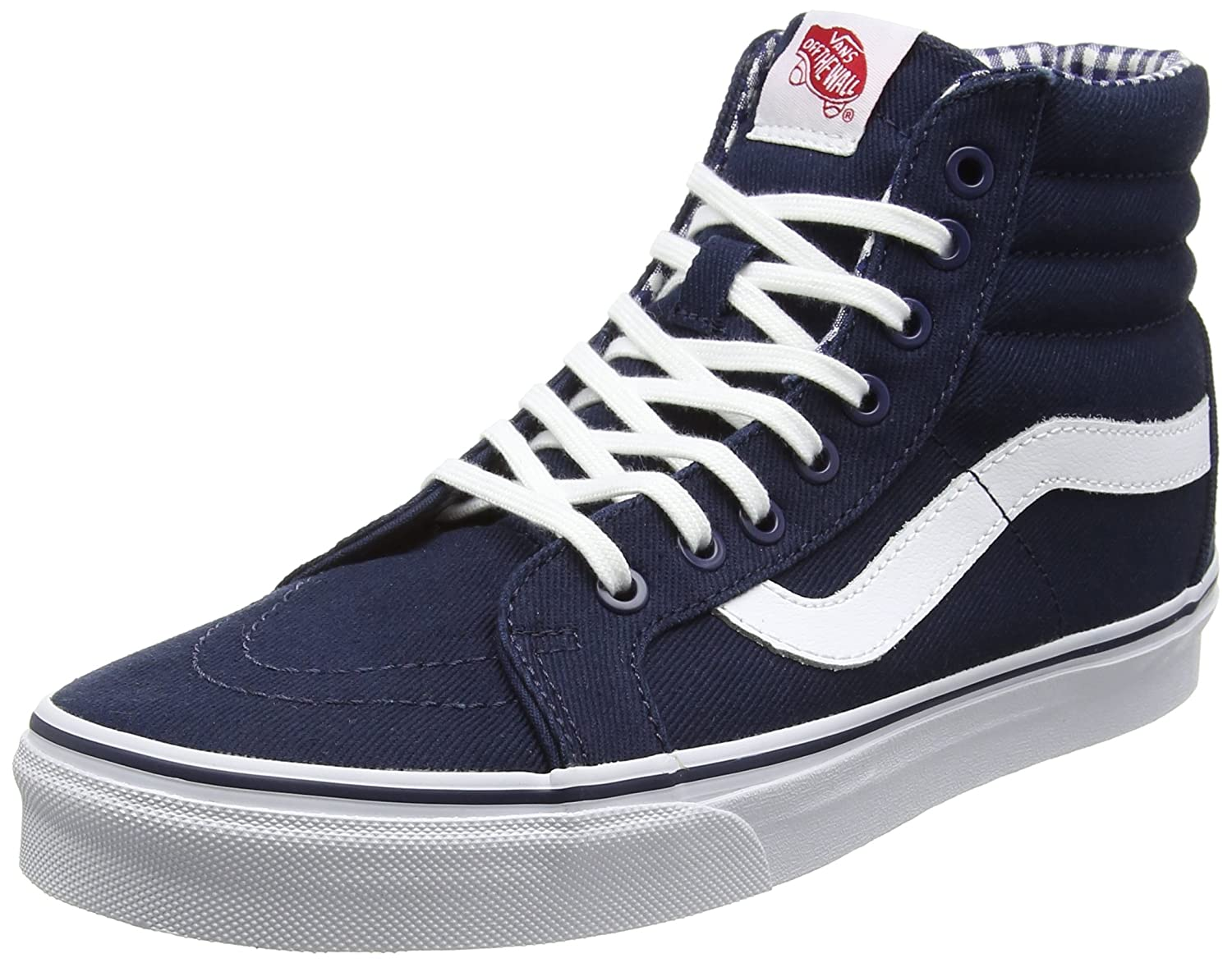 Vans Sk8-Hi Unisex Casual High-Top Skate Shoes, Comfortable and Durable in Signature Waffle Rubber Sole B011JJKL22 7 D(M) US|New York/Yankees/Navy