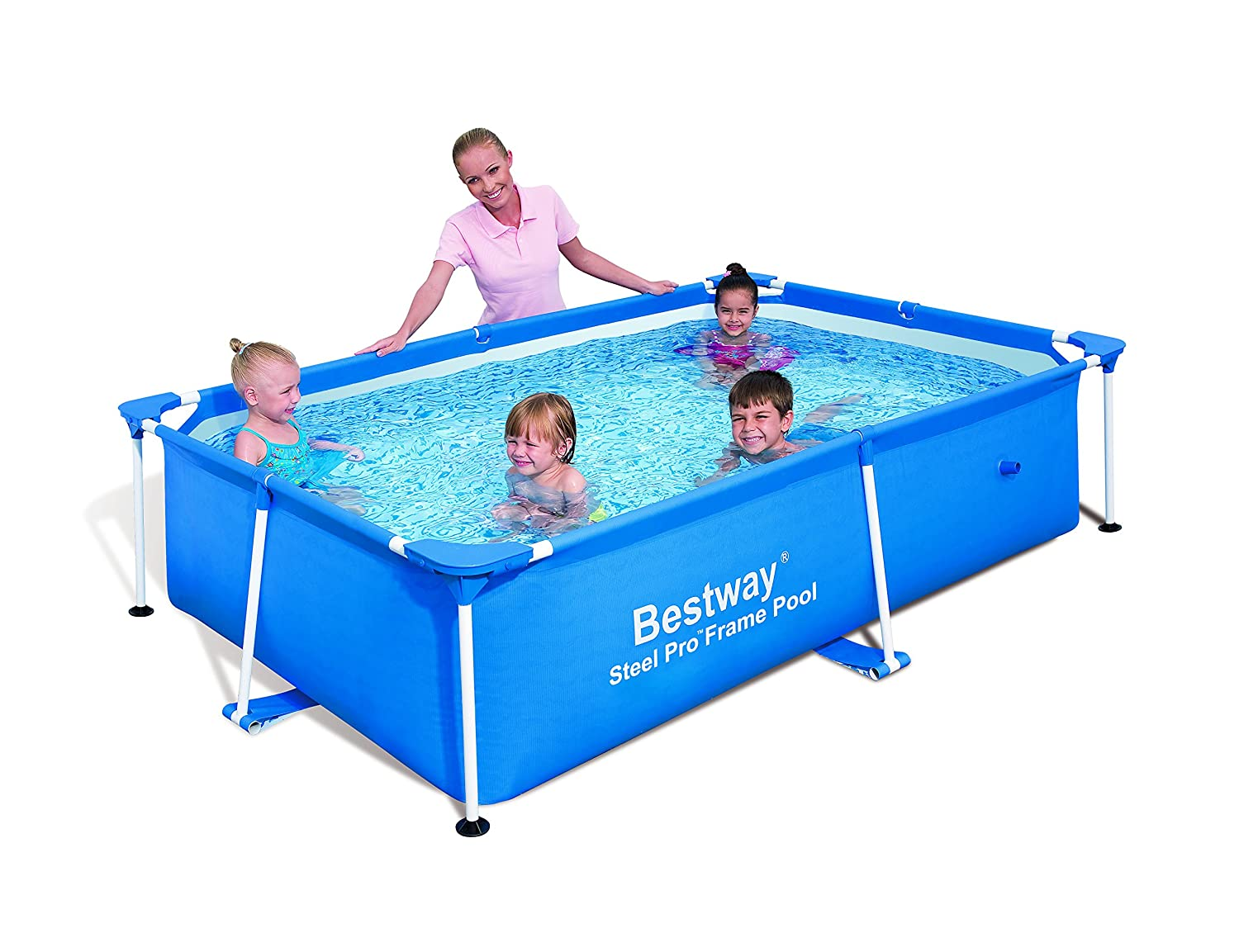 Amazon.com : Bestway Rectangular Splash Frame Pool 94\