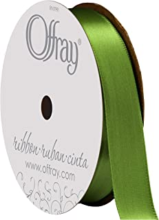 "product image for Berwick Offray 808465 5/8"" Wide Single Face Satin Ribbon, Kiwi Green, 6 Yds"