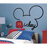RoomMates RMK2560GM Mickey and Friends All About Mickey Peel and Stick Giant Wall Decals
