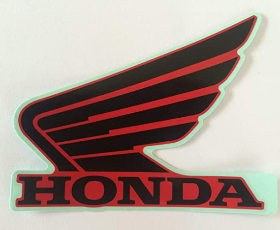 """4.5/"""" X 4/"""" OVERALL SIZE VINTAGE HONDA WING LOGO DIGITALLY CUT OUT VINYL STICKER"""