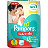 Pampers Small Size Diapers Pants, (60 Count)