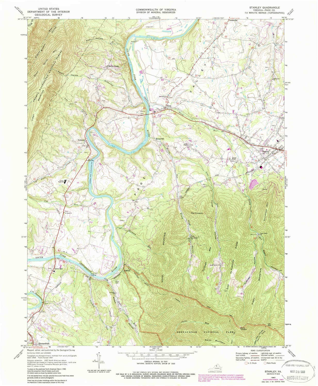 Amazon.com : YellowMaps Stanley VA topo map, 1:24000 Scale ...