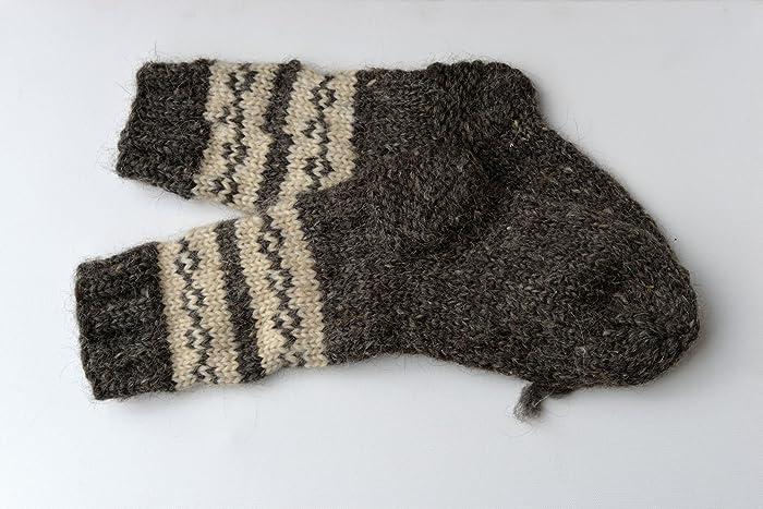 fa3e56412e329 Amazon.com: VERY THICK Socks Winter Women Men Sheep Wool Handmade Knitted  Knit Warm Bed Boots Ski Climbing Hiking Heavy Sturdy SMALL SIZE: Handmade