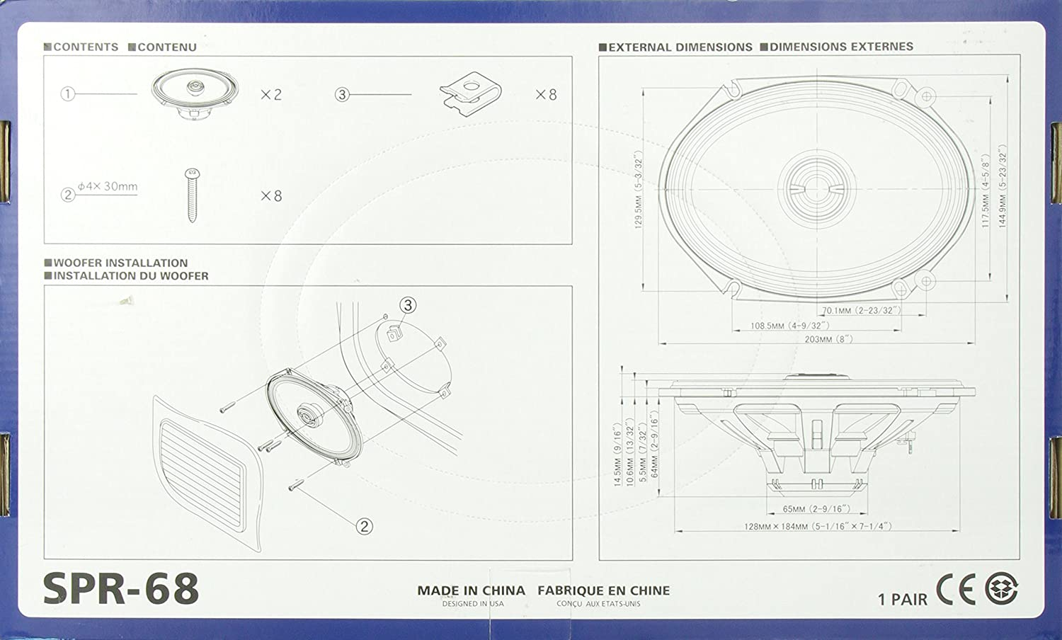 Alpine Spr 68 6x8 Coaxial 2 Way Type R Speaker Set 1968 Ford Mustang Wiring Diagram Original Cell Phones Accessories