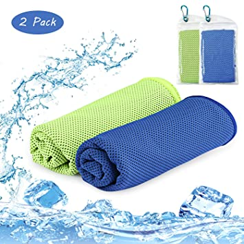 Edow Gym Towels, Yoga and Other Sports. Hiking Running Breathable Soft Chilling Towel,Super Compact Refreshing Towel 5 Pack Fitness Cooling Neck Wrap for Workout