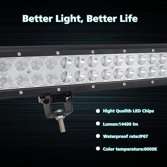 Automobiles & Motorcycles Enthusiastic Led Lights For Car Ip67 11520-14400lm 22 Inch 144w Watt Led Light Bar Offroad Combo Beam Led Driving Light 12v Car Light Bar Light Bar/work Light