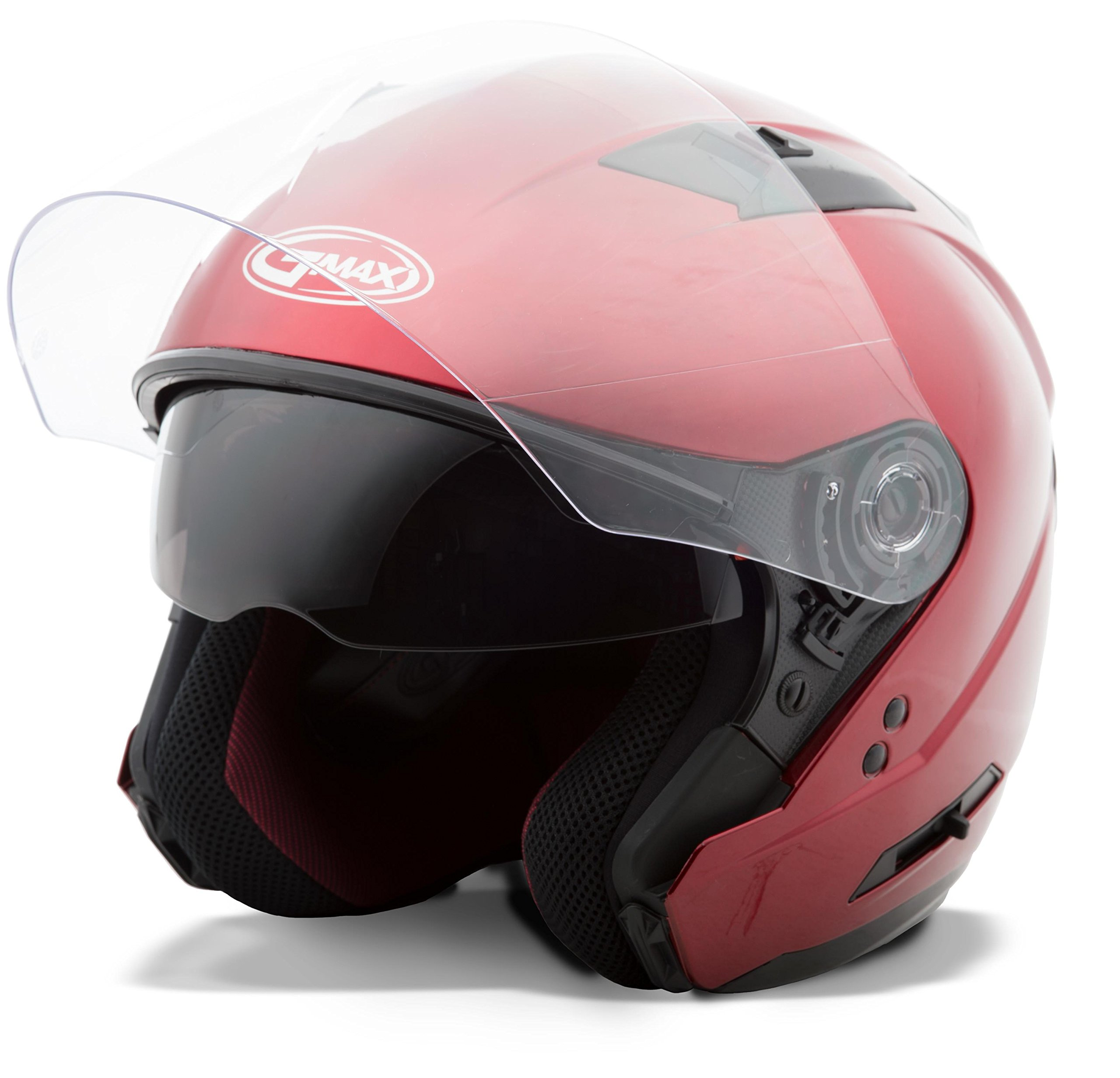 GMAX OF77 Mens Open Face Street Motorcycle Helmet - Candy Red 2X-Large