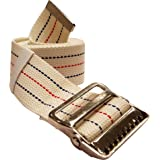"LiftAid Transfer Gait Belt w/ Metal Buckle & Belt Loop Holder - Beige/Washable - 60""L x 2""W - 1 Year Warranty"