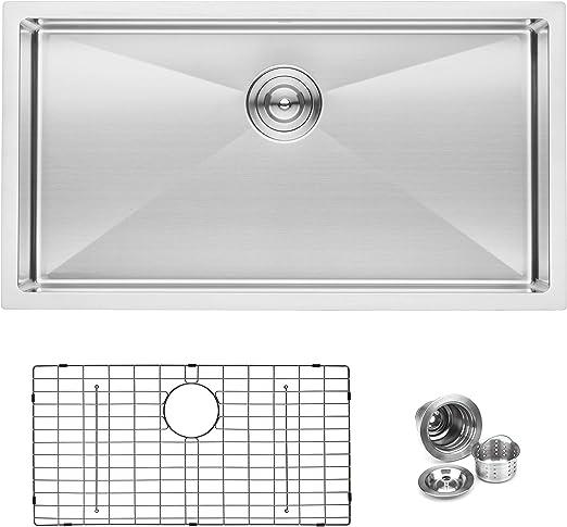BAI 1248 Stainless Steel 16 Gauge Kitchen Sink Handmade 33 ...