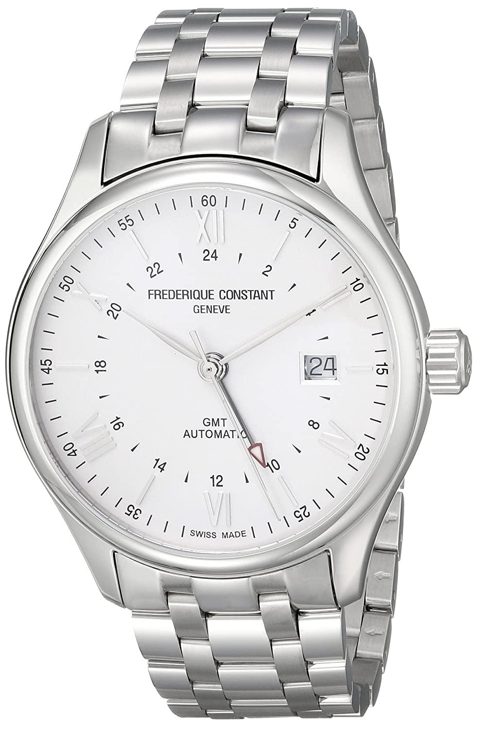 Frederique Constant Men s FC350S5B6B Classics Analog Display Swiss Automatic Silver Watch