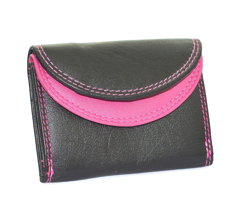 flevado Petit portefeuille pratique pour soir/ées en noir//rose