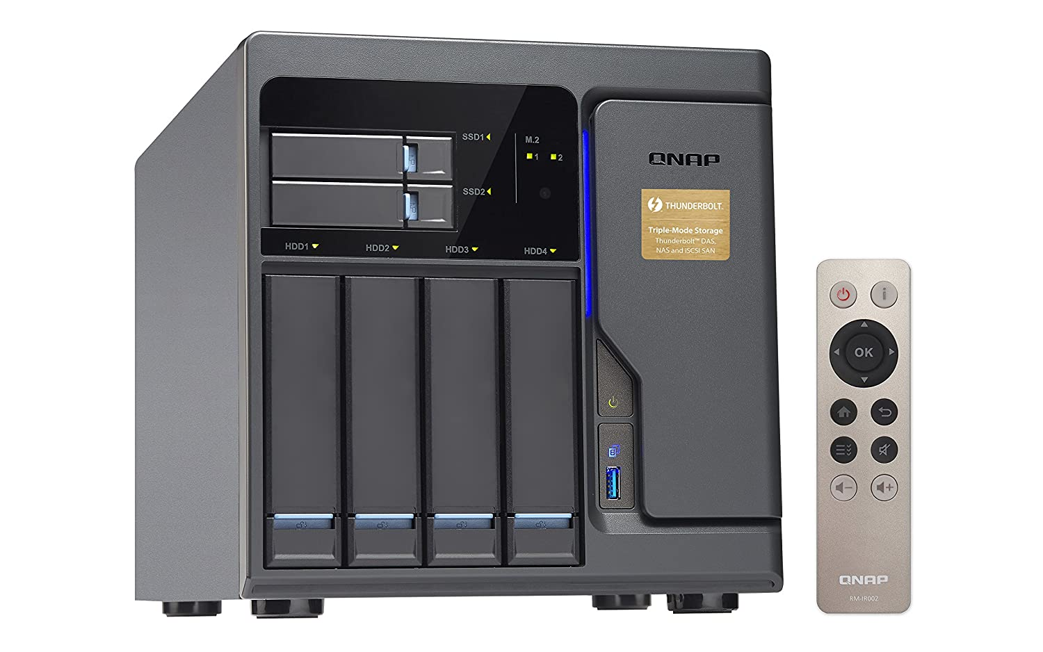 QNAP TVS-682T Thunderbolt 4-Bay Network Attached Storage Enclosure with  Intel i3 Processor and 8 GB RAM
