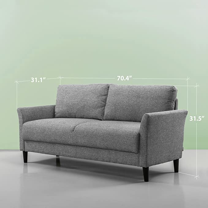 Surprising Zinus Classic Upholstered 71In Sofa Living Room Couch Soft Grey Download Free Architecture Designs Scobabritishbridgeorg
