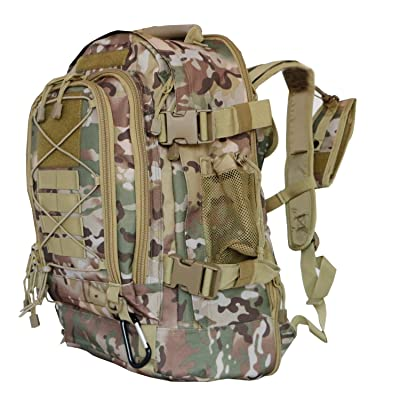 40-64 L 3 Day Hydration Backpack OCP 600D PVC | Expandable Tactical Backpack Military Sport Camping Hiking Trekking Bag School Travel Gym Carrier