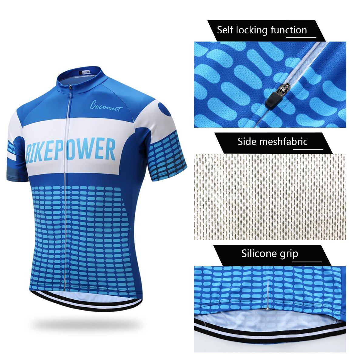 Mens Short Sleeves Cycling Jersey Set Bike Jersey Suit Cycling Shirt Bib Shorts with 3D Gel Padded