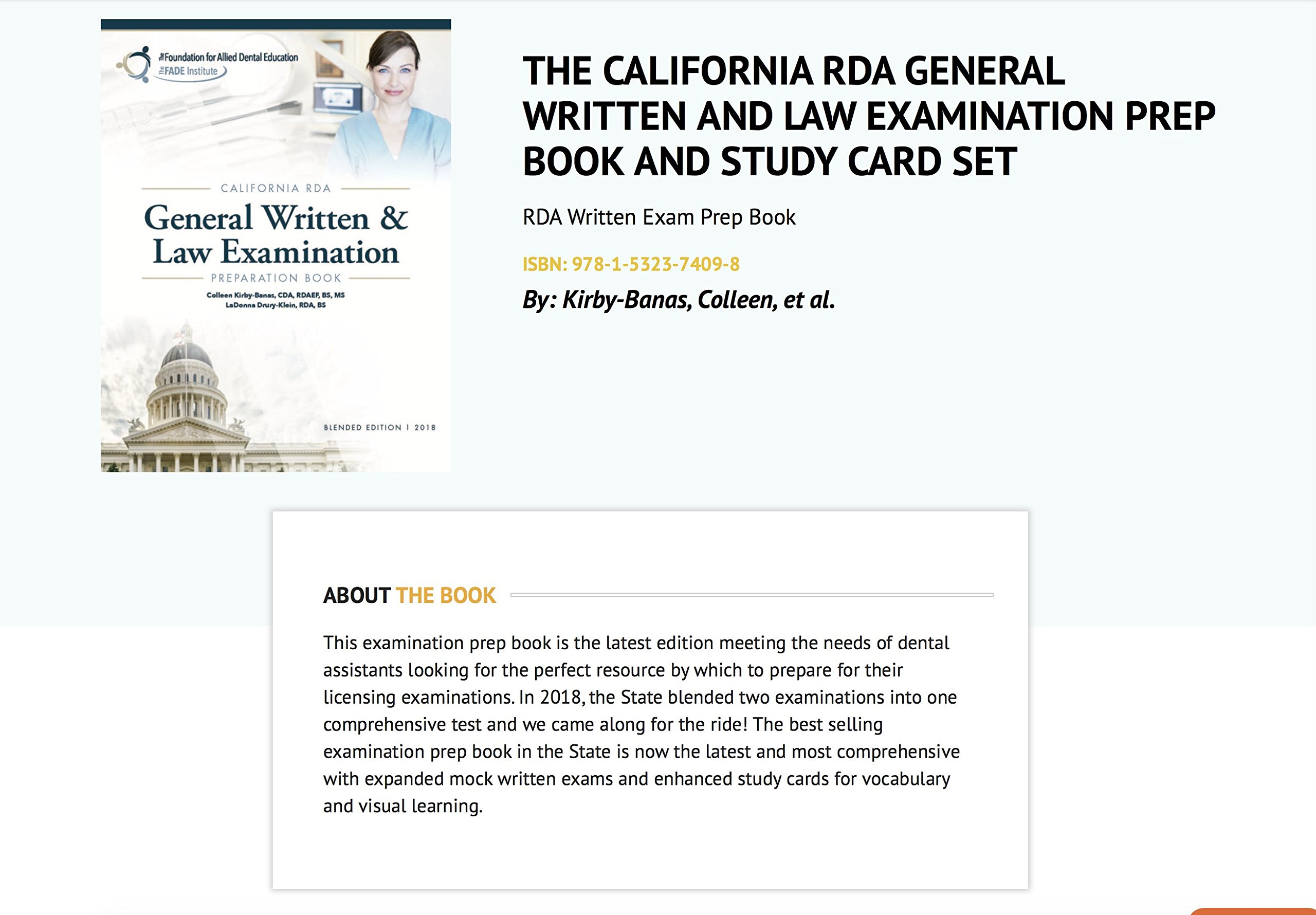 the california rda general written and law examination prep book rh amazon com california rda written exam study guide 2017