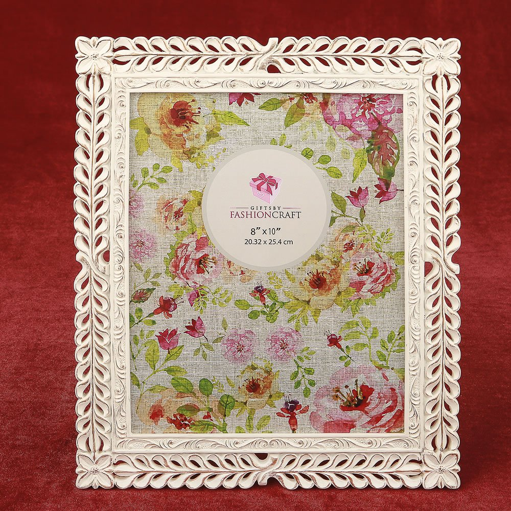 Magnificent Ivory with rose Gold lattice 8 x 10 frame 10PK