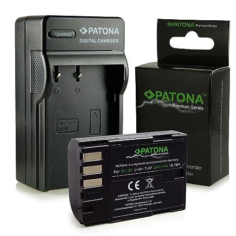 Cargador + Premium Batería D-Li90 para Pentax 645D | K-01 | K-3 | K-5 | K-5 II | K-5 IIs | K-7