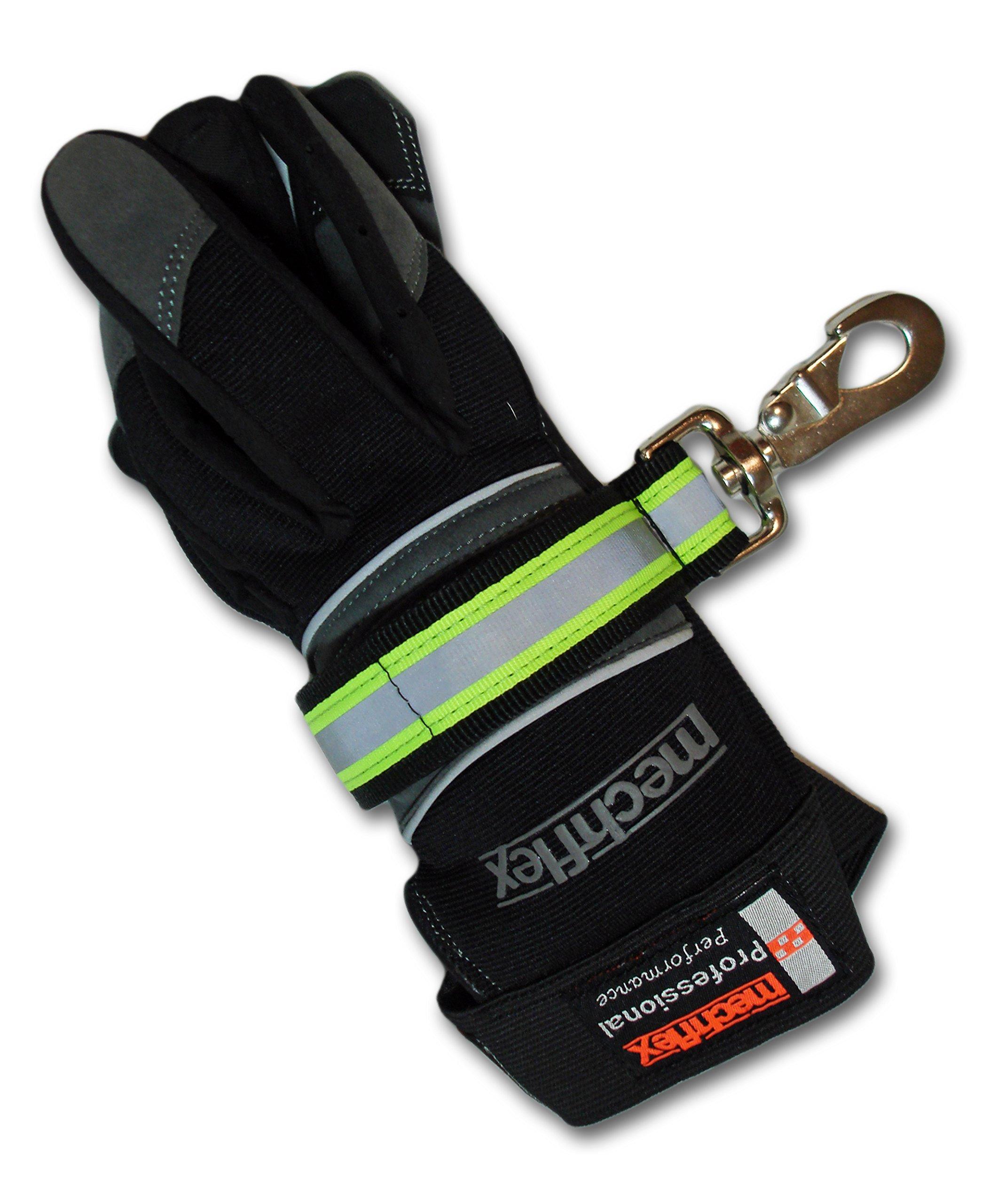 Lightning X Reflective Firefighter Rescue Extrication Glove Strap Alligator Clip
