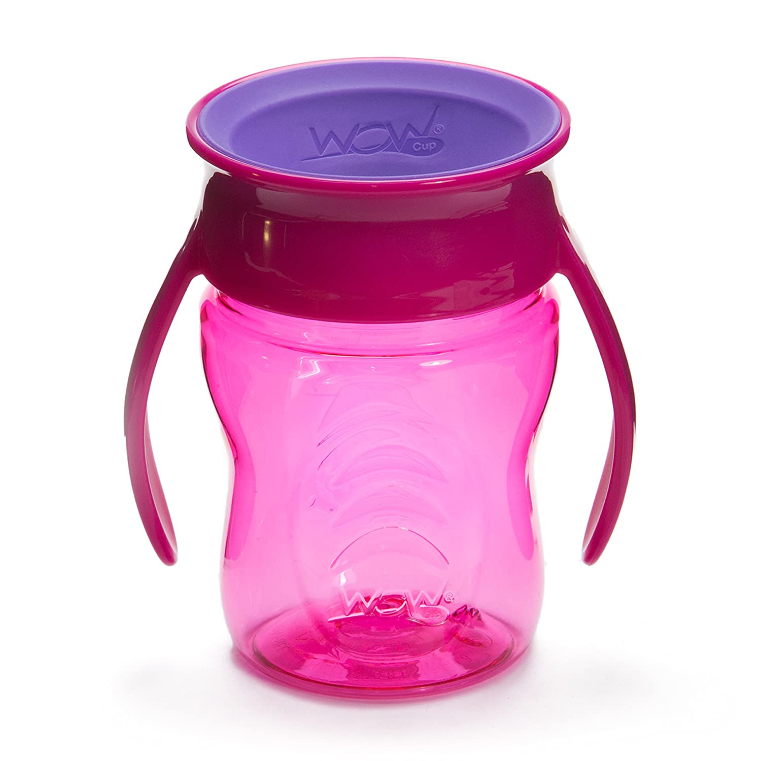 Wow Cup Baby TRITAN 360⁰ Spill-Free with Handles, 7 fl. Oz, Pink 00131