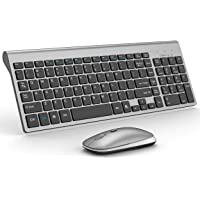 Wrieless Keyboard with Mouse,2.4G urtal Slim Wireless Keyboard and Adjustable DPI Compact Wireless Mouse Keyboard with…
