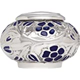 Mini Keepsake Urn • Miniature Funeral Cremation Urn fits Small Amount of Ashes • Silver Vines Model • 2 inches Tall