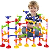 Marble Run Railway Toy BATTOP Marble Run Coaster Railway Construction Child Building Blocks DIY Game for Over 4 Years Old Kids