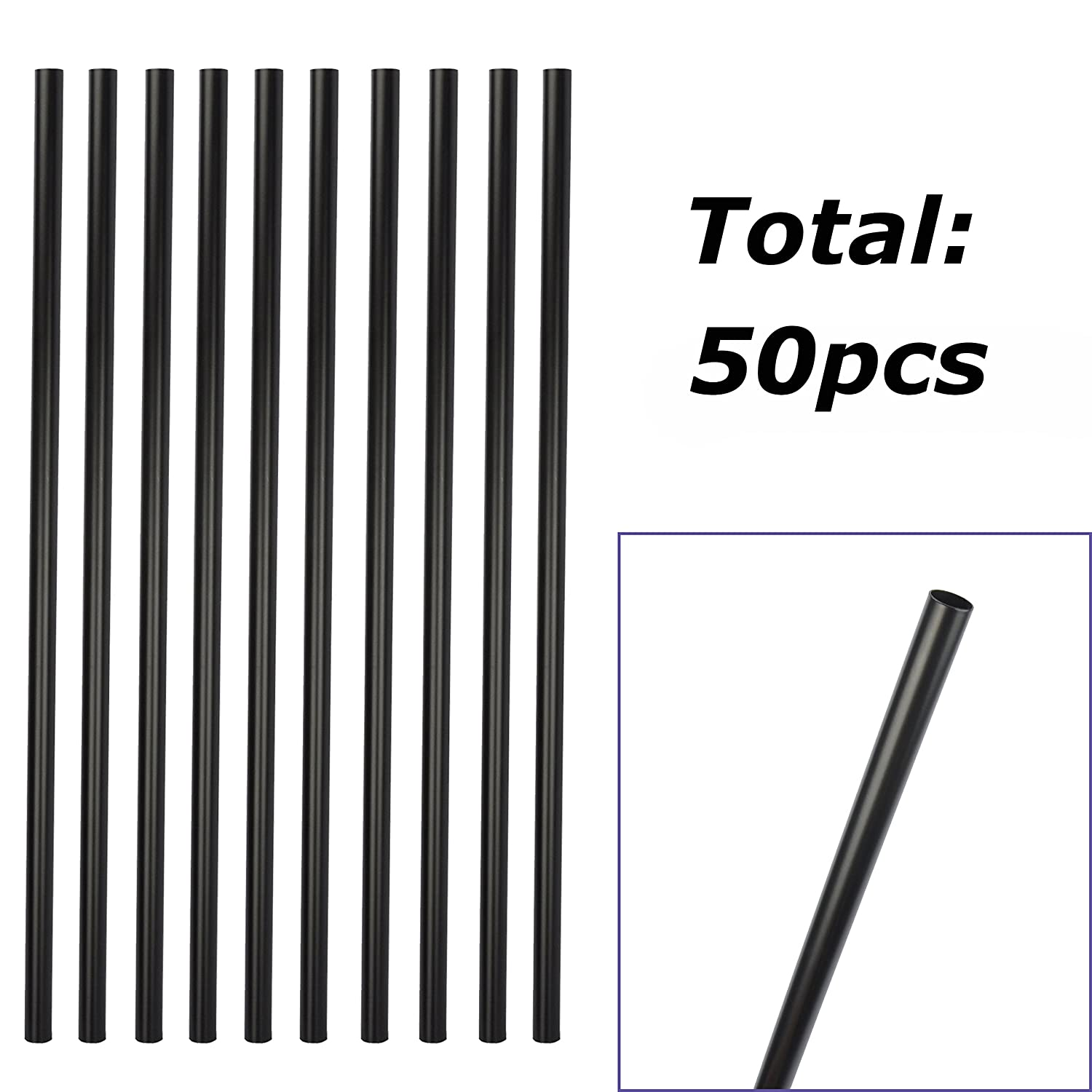 25-Pack, Matte Black Modern Look Myard 32 Inches Estate Square Iron Balusters for Decking Railing Patio Fence