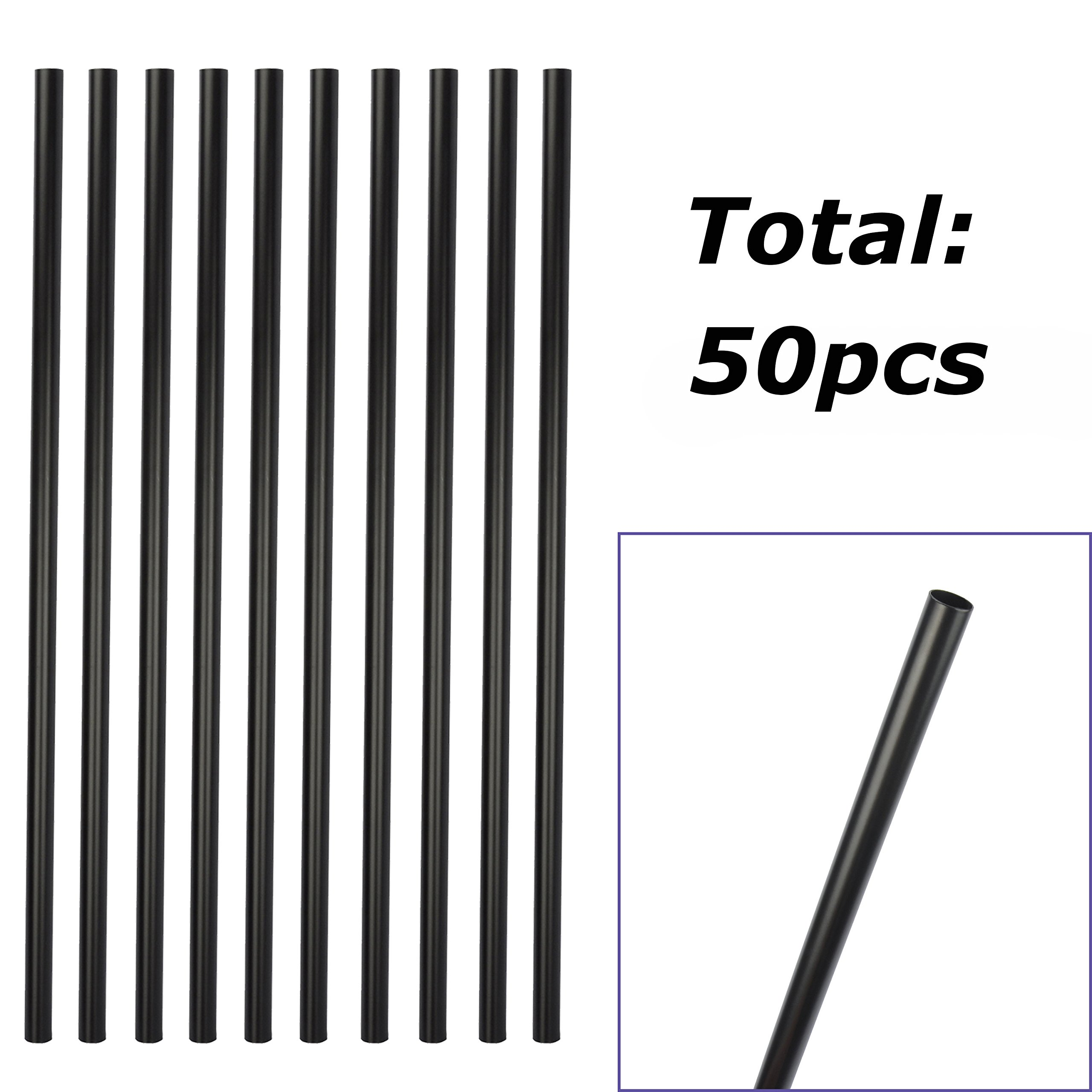 Myard 26'' Classic Hollow Round Iron Balusters 50-Pack for Deck Railing/Porch (Matte Black) by Myard (Image #2)