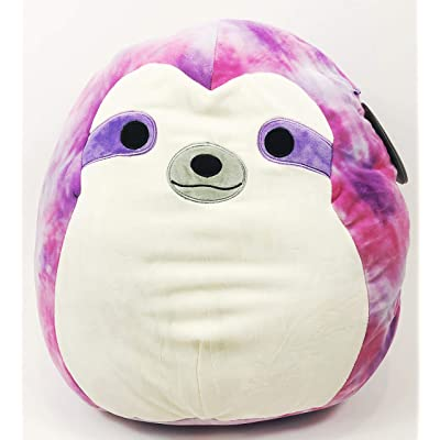 "Squishmallow Kellytoy 16"" Sharie The Sloth Tie dye Super Soft Plush Toy Pillow pet pal Buddy: Toys & Games"