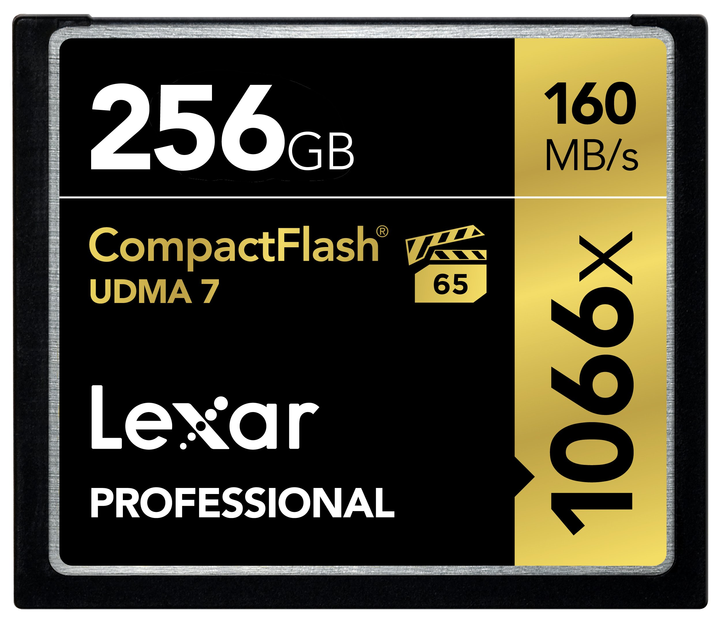 Lexar Professional 1066 x 256GB VPG-65 CompactFlash card (Up to 160MB/s Read) LCF256CRBNA1066 by Lexar