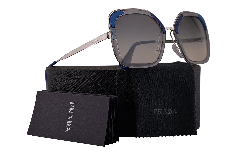 11b7da580f Amazon.com  Prada PR57US Sunglasses Transparent Grey w Grey Gradient Grey  54mm Lens LMD130 SPR57U PR 57US SPR 57U  Clothing