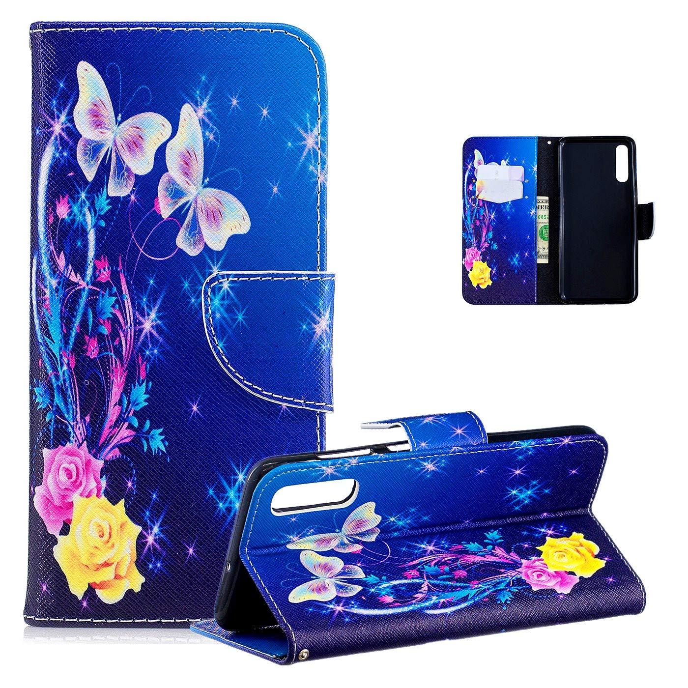 Vepbk f/ür Samsung Galaxy A50 H/ülle Handyh/ülle PU Leder Handytasche Case Klapph/ülle mit Magnet Kartenfach Weich Silikon Cover Flip Brieftasche Schutzh/ülle f/ür Samsung Galaxy A50,Muster 4