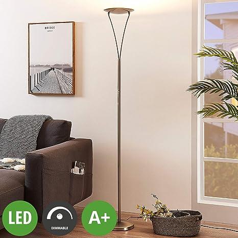 LED Lámpara de pie Mauricio (Moderno) en Gris hecho de ...