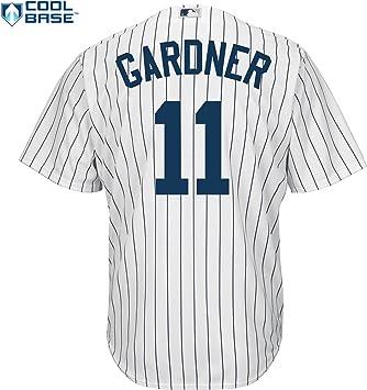 Brett Gardner New York Yankees Youth Majestic Cool Base réplica de la camiseta: Amazon.es: Deportes y aire libre